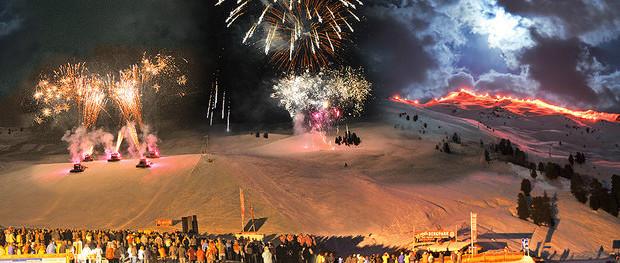 Feuerwerk beim Fire & Ice am Hochzeiger