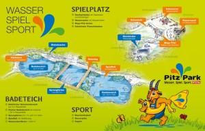 Plan / Übersicht PITZ PARK in Wenns, Pitztal