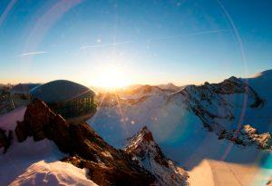Sonnenuntergang am Pitztaler Gletscher im Café 3.440