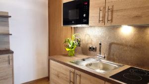 Küche im Zimmer Venetblick